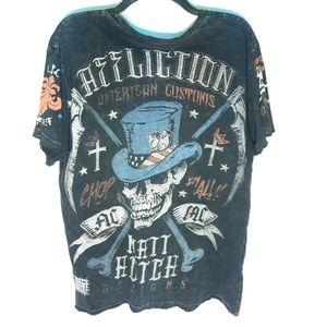Affliction MATT HOTCH T-Shirt Skull